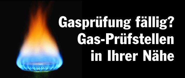 Gasprüfung beim Wohnmobil