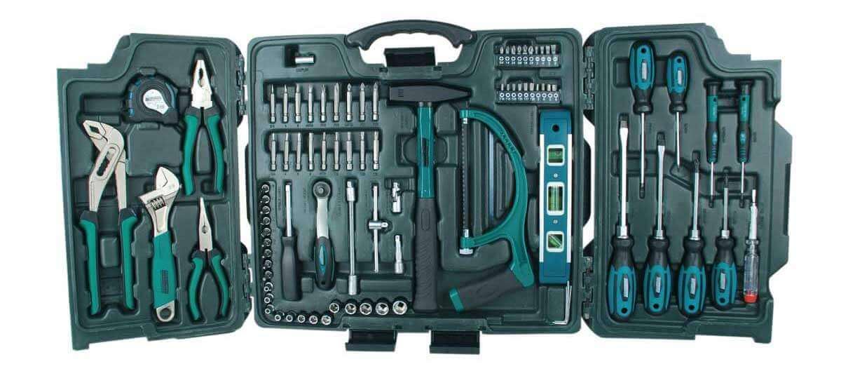 Mannesmann 89-teiliger Premium Universal- und Haushalts-Werkzeugkoffer